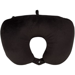 21BO - Neck Pillow foam 2-in-1 • Travel Push Button •