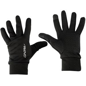 74OC - Sporthandschuhe mit Touchscreen Zipfel • Basic Black •