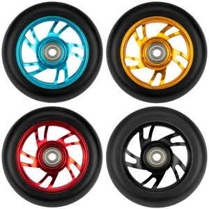 52LK - Stunt Scooter Wheel Set • Spoked Alu Matt Black •