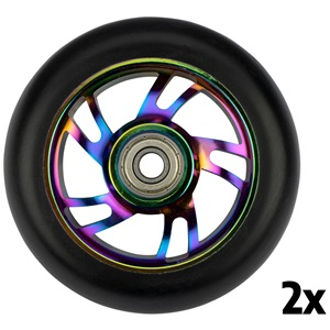 52LL - Satz Rollen für stunt Fartroller • Spoked Alu Neo Chrome •