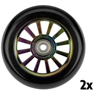 52LM - Satz Rollen für stunt Fartroller • Spoked Plastic Neo Chrome