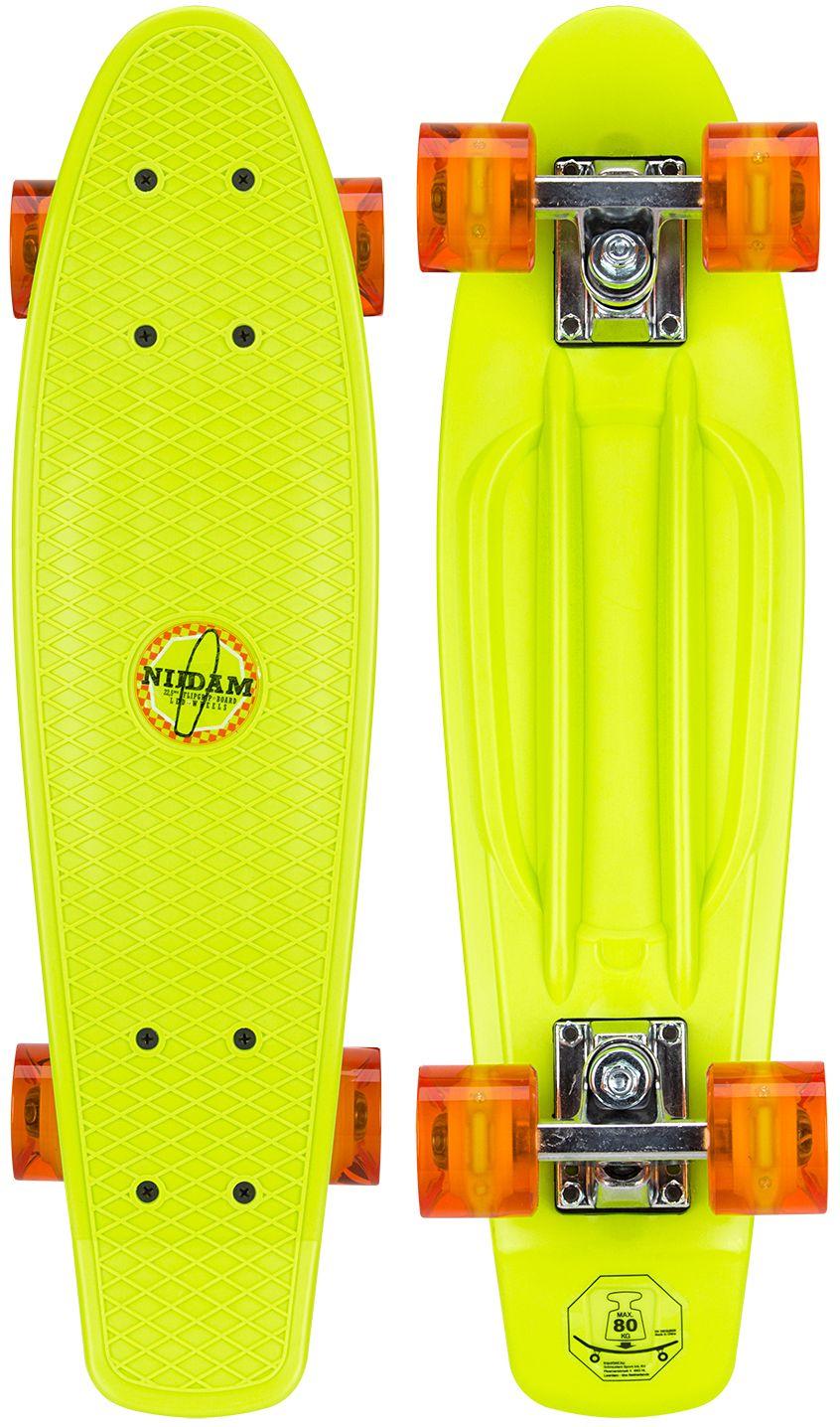 """Kunststof Skateboard 22.5"""" • LED wielen •"""