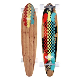 "52OV - Longboard 42"" Kicktail Bamboo • Rasta Revolution •"