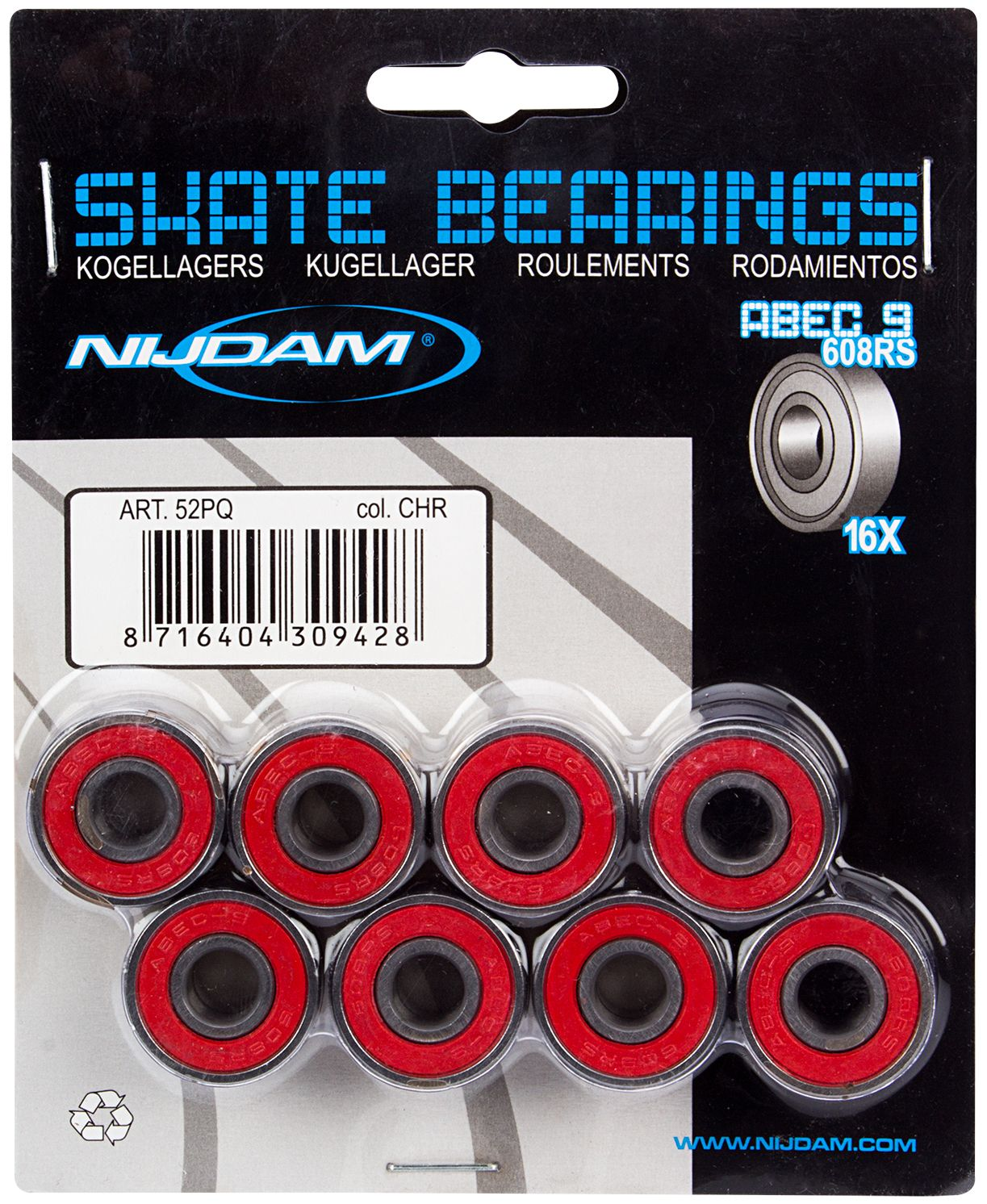Kogellagers Chroom Speed • ABEC 9 •