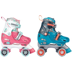 52QN - Roller Skates Junior Adjustable Hardboot • Disco Twirl •