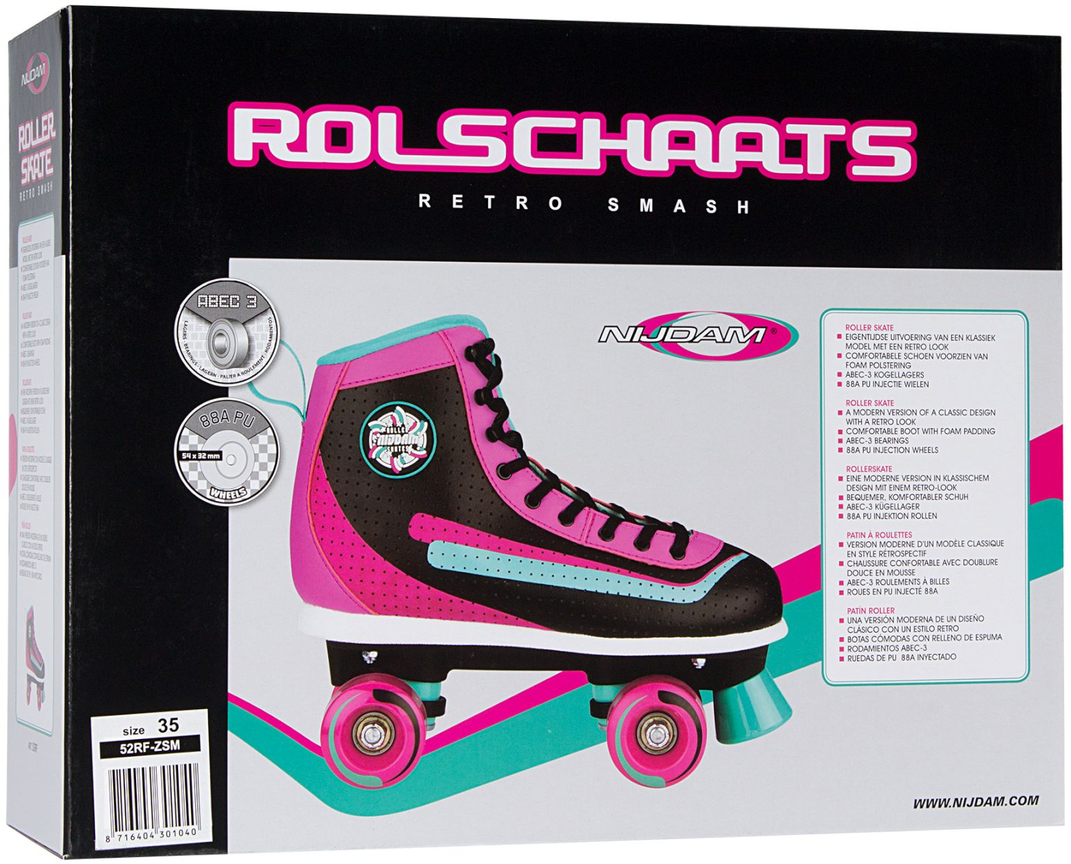 14e86e63124 52RF - Rolschaatsen • Retro Smash • - Schreuders Sport - Uw partner ...