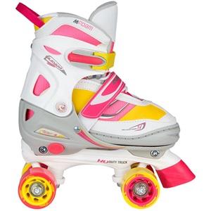 52SF - Rollerskates Mädchen Verstellbar Semi-Softboot •Rave Skate•