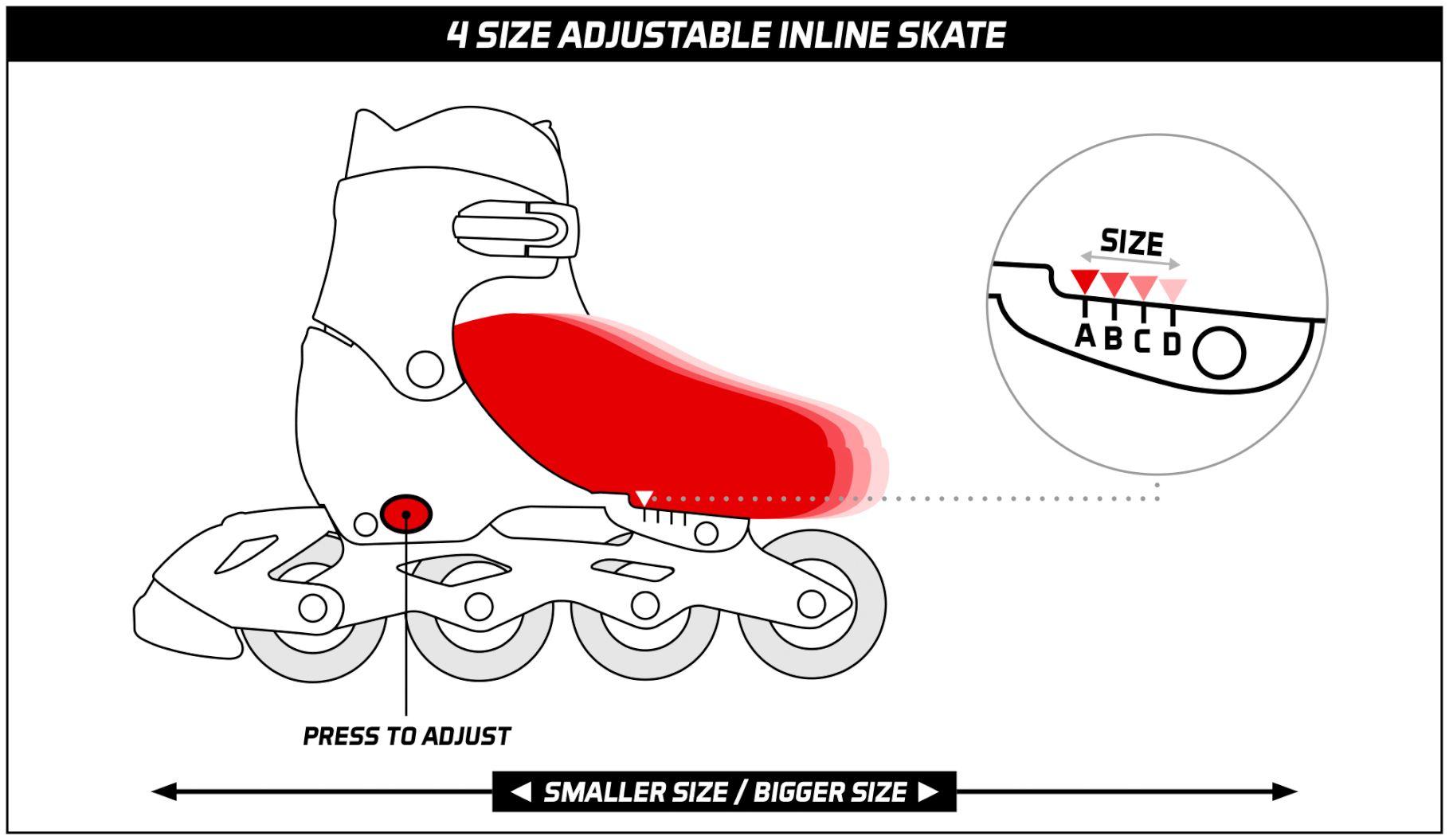 52SH-4SIZEADJUSTABLEINLINESKATE