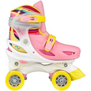 52SS - Rolschaatsen Meisjes Verstelbaar Hardboot • Rainbow Roller •