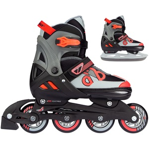 N14AC01 - Skates Combo Adjustable - Red Raider