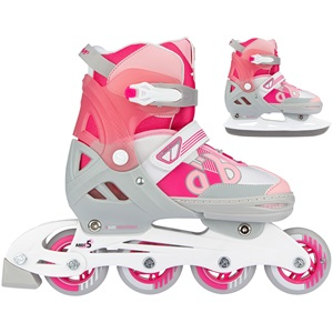N14AC02 - Skates Combo Adjustable - Bold Berry