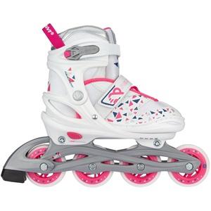 N20AA04 - Inline Skates Verstelbaar - White Wedge
