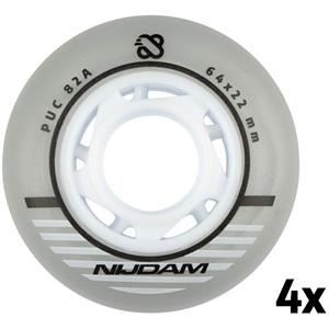 N70FA03 - Inline Skate Wheel Set - 64x22 mm - 4pcs - Silver