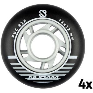 N70FA04 - Inline Skate Wheel Set - 72x22 mm - 4pcs - Black