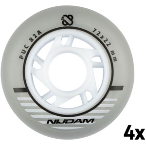 N70FA06 - Inline Skate Wielen Set - 72x22 mm - 4st - Silver