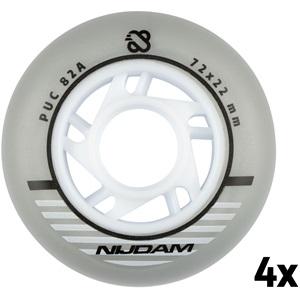 N70FA06 - Inline Skate Wheel Set - 72x22 mm - 4pcs - Silver