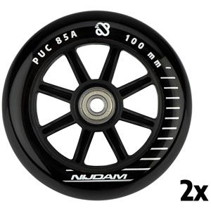 N70FB01 - Stuntstep wielen - 100x24 mm - 2st - Full Black