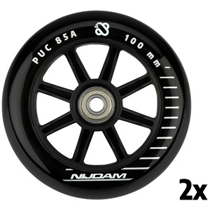 N70FB01 - Stunt Scooter Wheel Set - 100x24 mm - 2pcs - Spoked PP