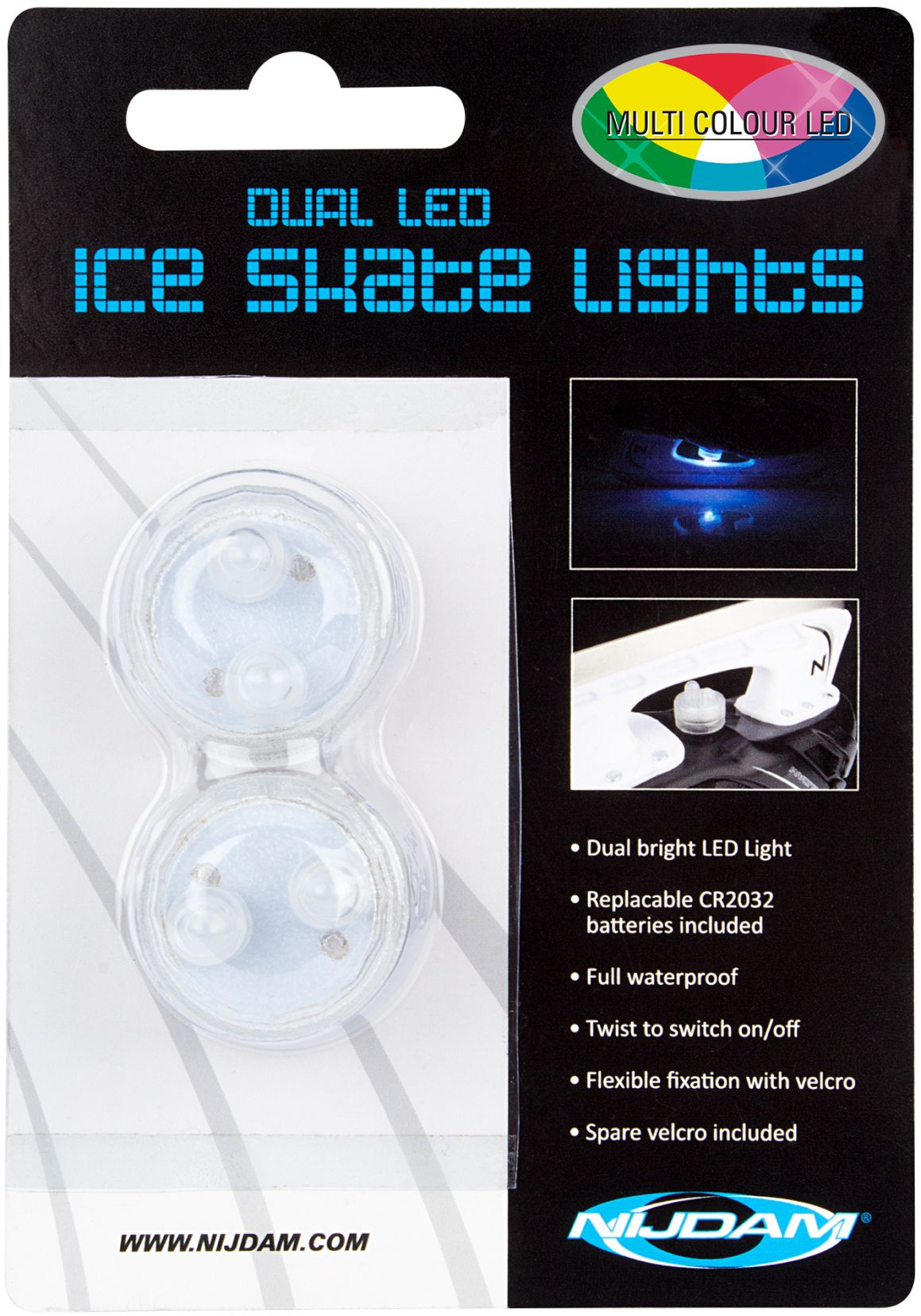 Dual LED Schaatslampjes • Multi Colour •