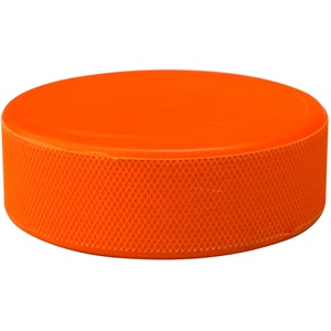 0167 - Ice Hockey Puck in Blister • Orange •