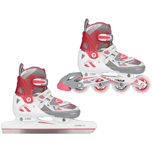 3410 - Speed Ice Skate/Inline Combo Girls • Semisoft Boot •