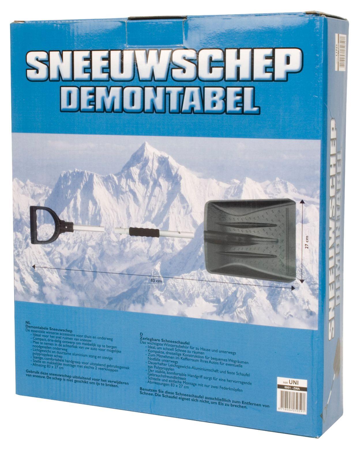 Sneeuwschep • Demontabel •
