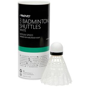 46SD - 3 Badminton Shuttles • White •