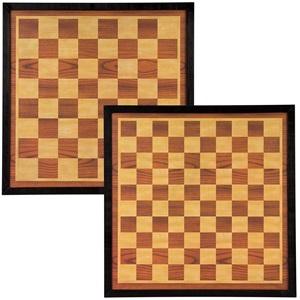 49CF - Dame/Schachbrett 49.5 x 49.5 cm