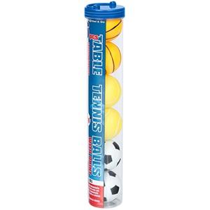 61PJ - Tischtennisbälle mit Aufdruck im Behälter • 6 Stück •