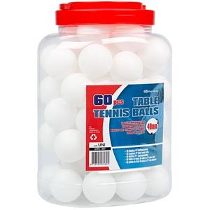 61PK - Tafeltennisballen PP in Pot • 60 Stuks •