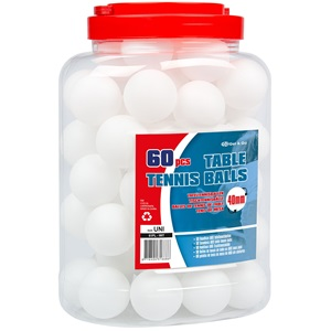 61PL - Tafeltennisballen ABS in Pot • 60 Stuks •