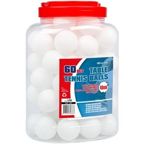 61PL - Table Tennis Balls ABS in Jar • 60 Pieces •
