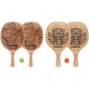 63BC - Beach Paddle Set with Wooden Grip
