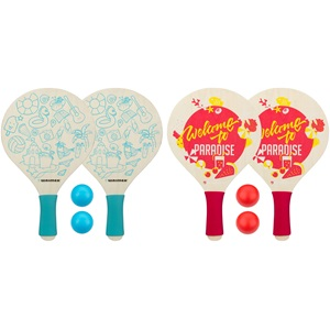 63BE - Beach Paddle Set with Foam Grip • Paradise •