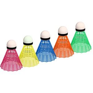 65SA - Badminton Shuttles in Koker • Multi-kleur • 5 Stuks •