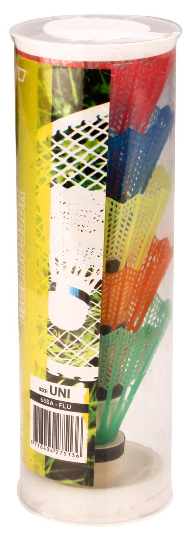 Badminton Shuttles in Koker • Multi-kleur • 5 Stuks •