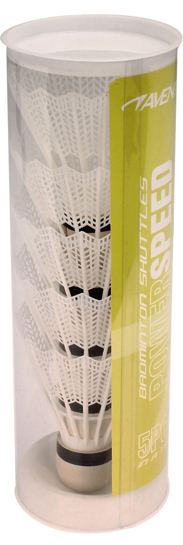 Badminton Shuttles in Koker • Wit • 5 Stuks •