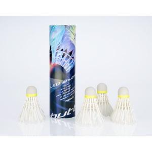 65SF - Badminton Shuttles in Koker • LED • 4 Stuks •