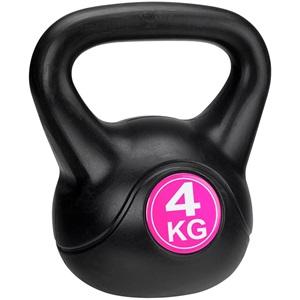 41KA - Kettle Bell Kunststof/Cement • 4 Kg •