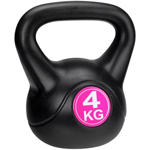41KA - Kettle Bell Kunststoff/Zement • 4 Kg •