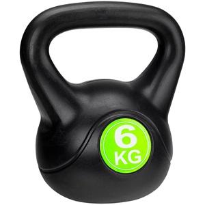 41KB - Kettle Bell Kunststof/Cement • 6 Kg •