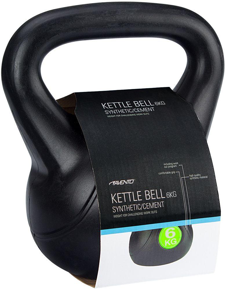 Kettle Bell Kunststof/Cement • 6 Kg •