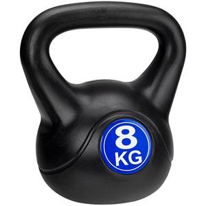 41KC - Kettle Bell Kunststof/Cement • 8 Kg •