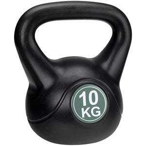 41KD - Kettle Bell Kunststof/Cement • 10 Kg •