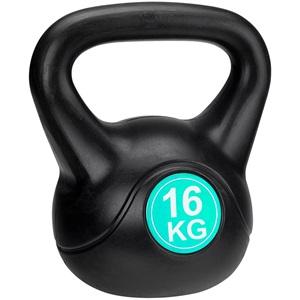 41KF - Kettle Bell Kunststof/Cement • 16 Kg •