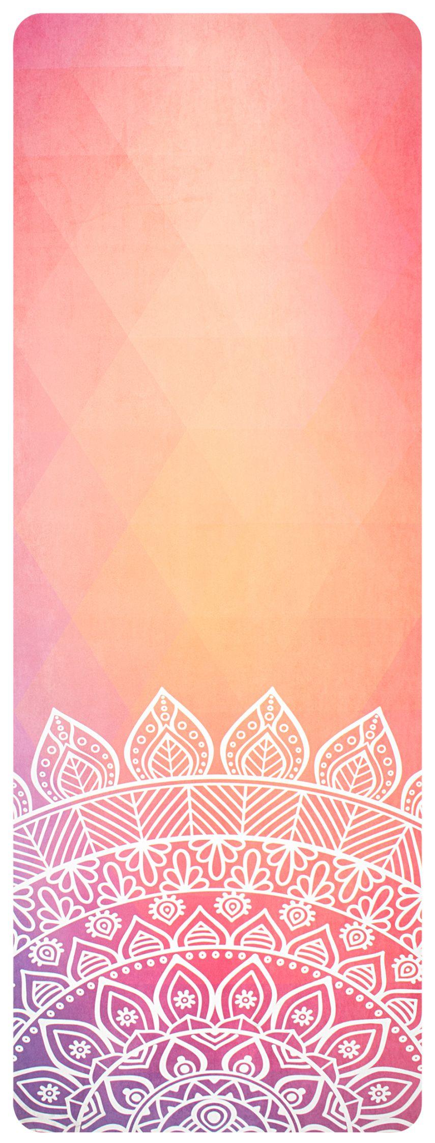 Mat Yoga Print • Microfiber Suede •
