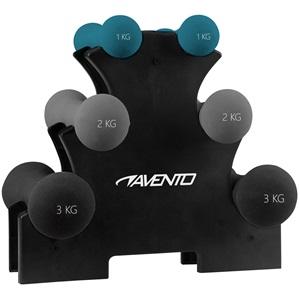 42DH - 3 pairs Hand Weights + Rack • Bone •