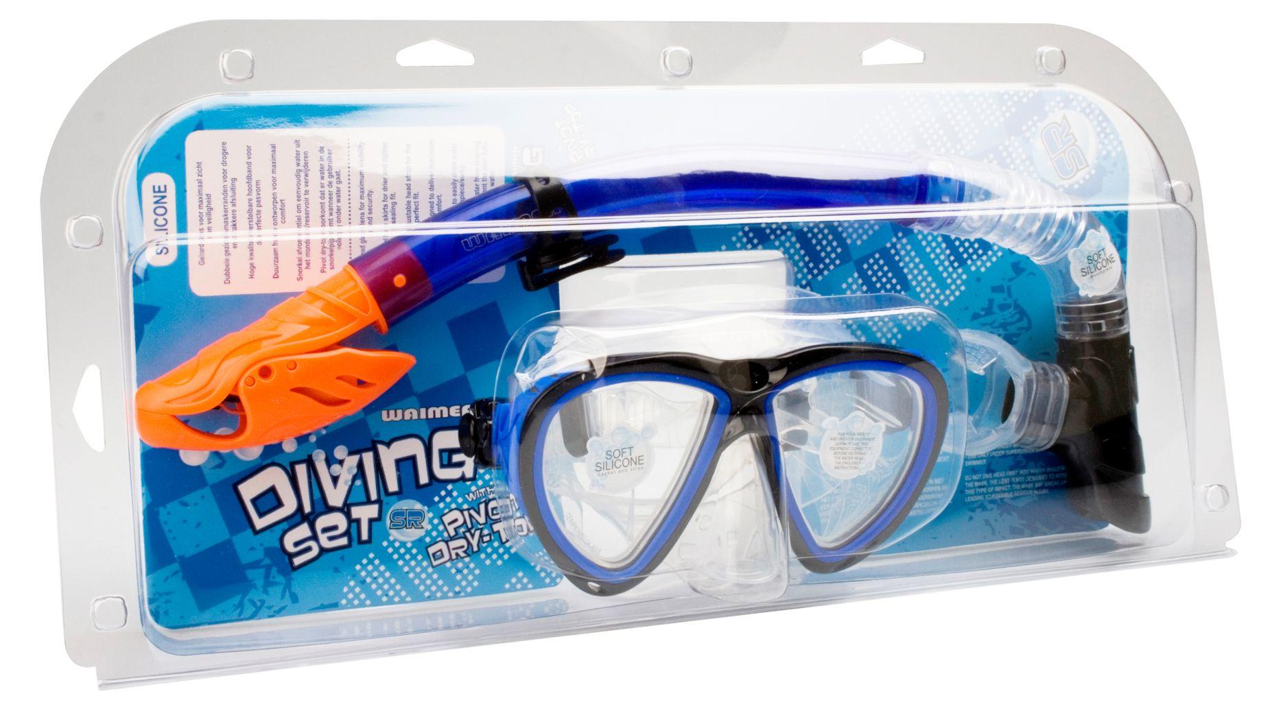 Duikmasker met Snorkel Silicone • Senior •