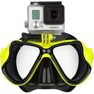 88DT - Tauchermaske Rubberized • Senior • Action Cam •