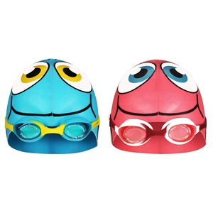 88DU - Swimming Cap Fish with Swimming Goggles • Junior •
